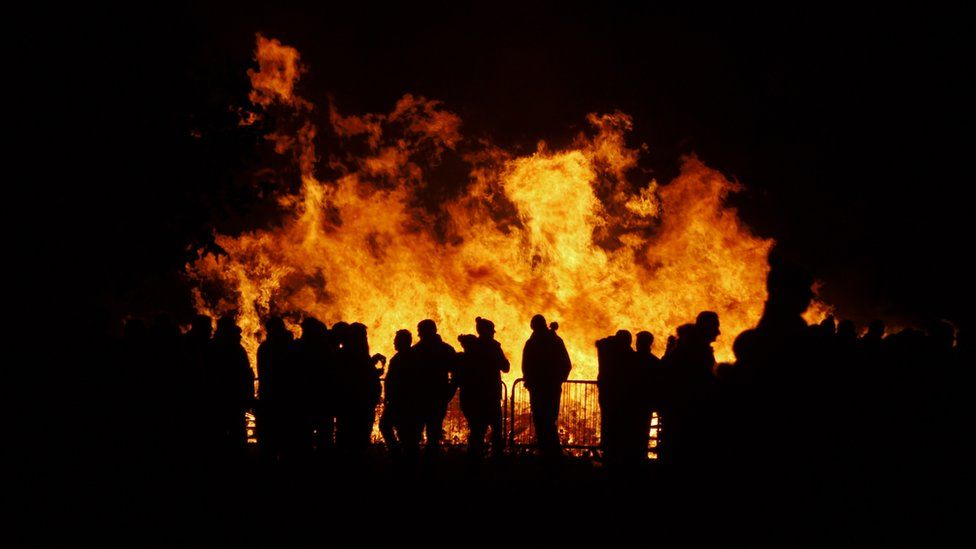 Bonfire night 2015 at a public display in Crewe, Cheshire