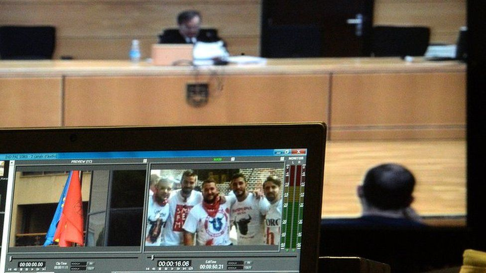 Magistrate delivers sentence as picture of five accused seen on screen