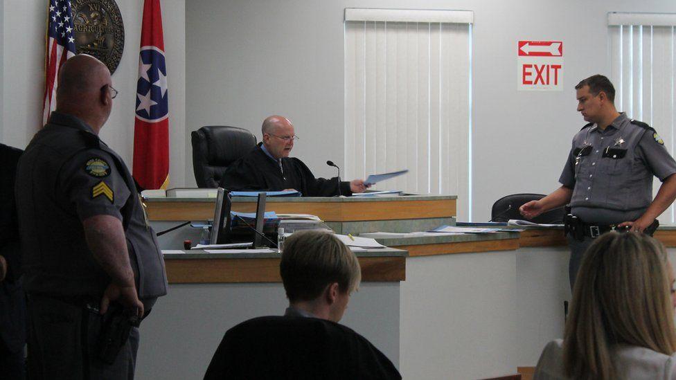 Judge Sam Benningfield in court
