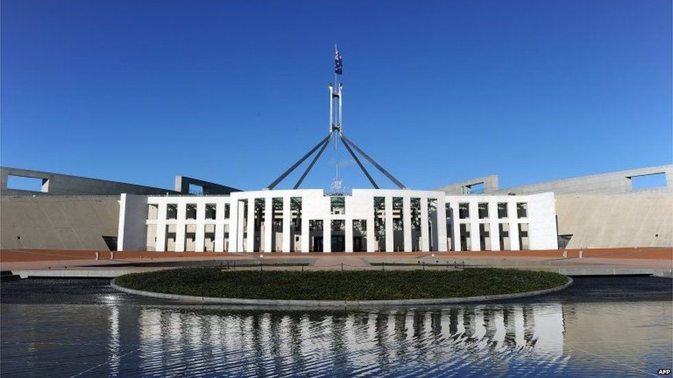 Parliament House in Canberra on September 7, 2010