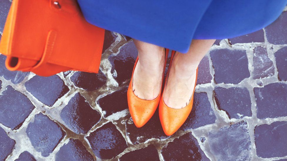 Walking in heels on cobbled streets