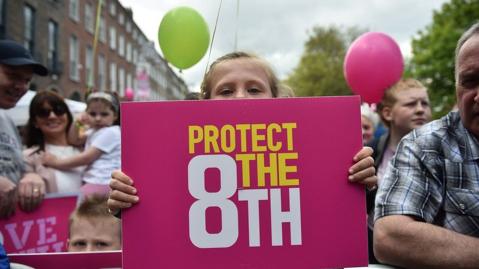 Child with Protect the 8th campaign