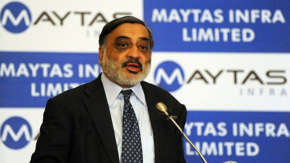 Infrastructure Leasing and Financial Services Ltd. (IL&FS) Chairman Ravi Parthasarathy speaks at a press conference in Hyderabad on September 1, 2009