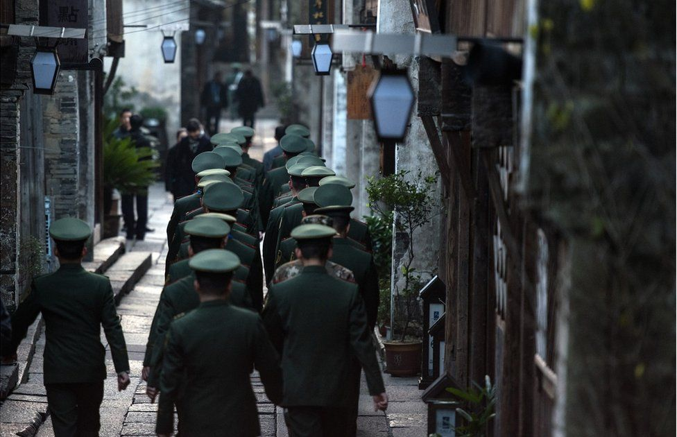 Security in the town of Wuzhen