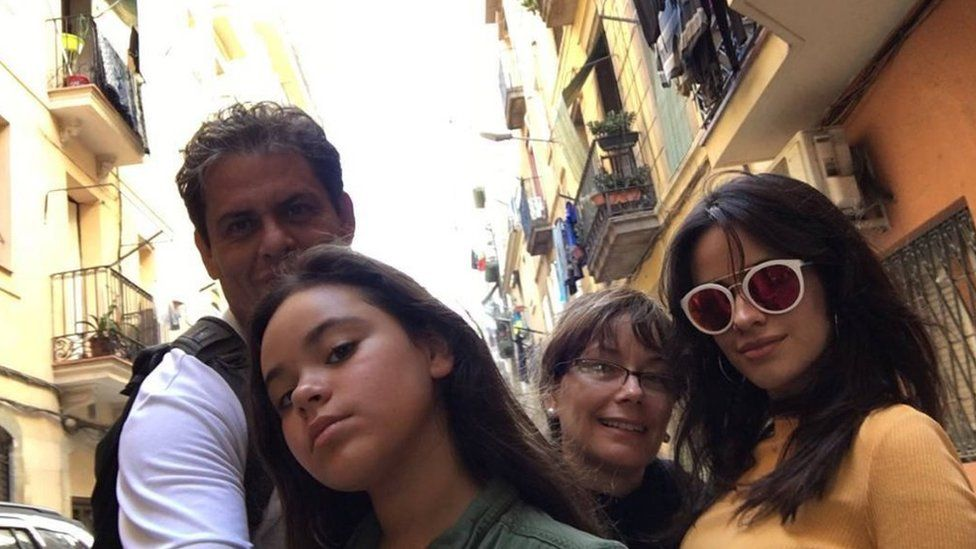 Camila Cabello with her family