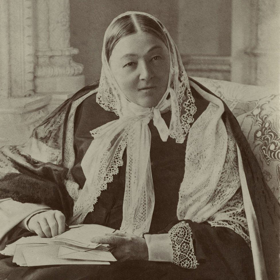 Florence Nightingale with letters