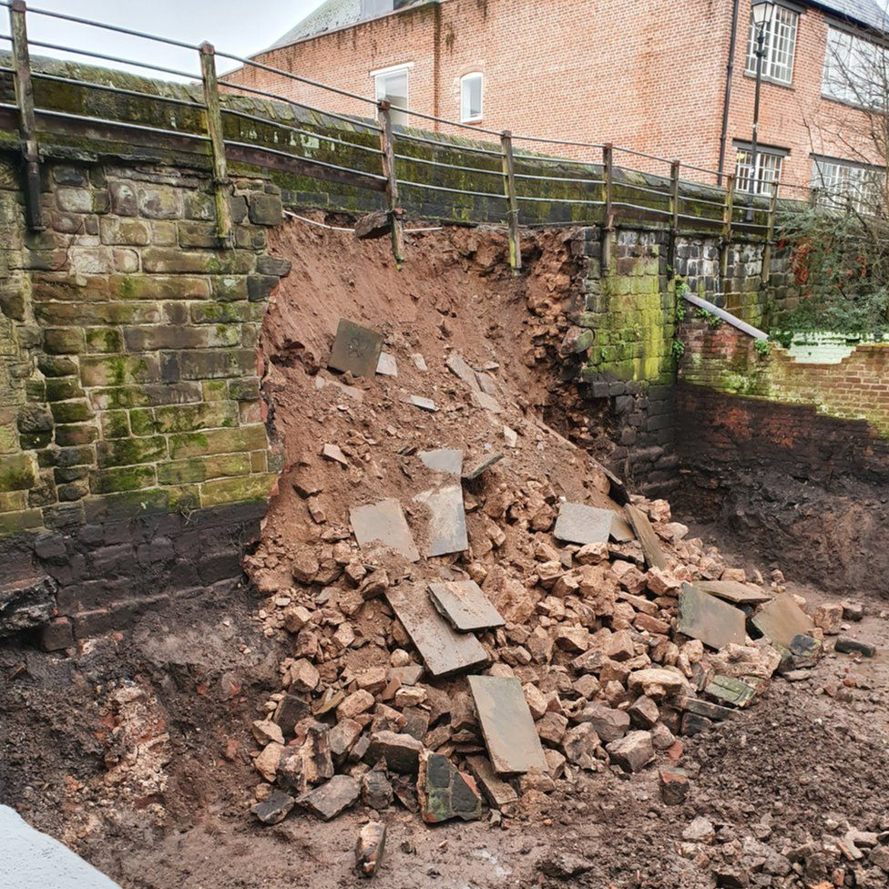 Chester wall collapse