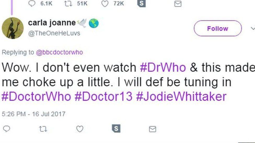 Carla Joanne's tweet