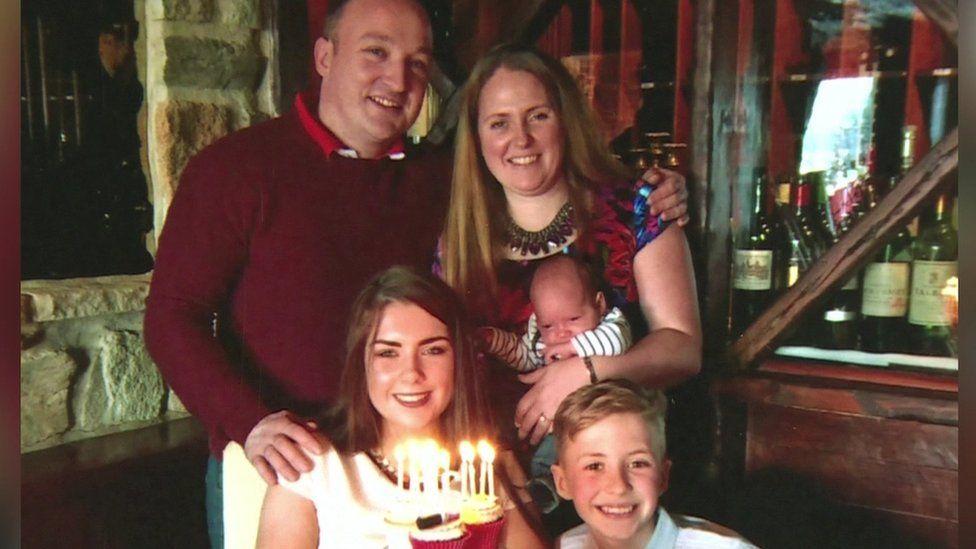 Elle Trowbridge with her family