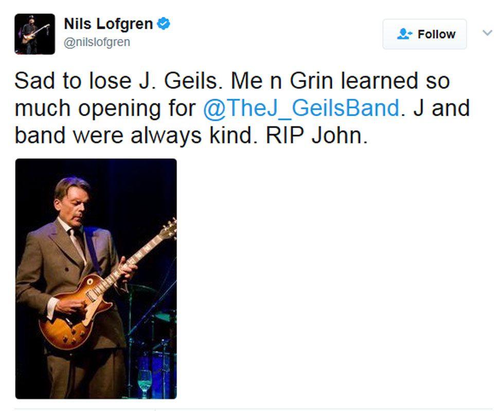 Nils Lofgren tweet