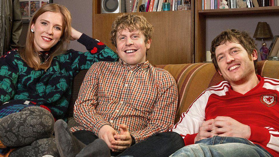 Beattie Edmondson, Josh Widdicombe and Elis James