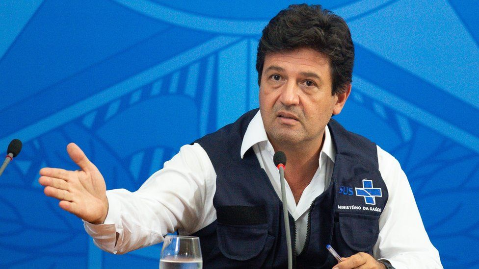 Luiz Henrique Mandetta during a briefing on coronavirus
