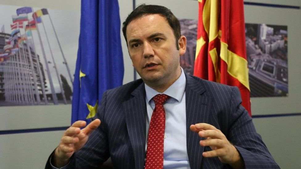 Macedonia's deputy prime minister Bujar Osmani