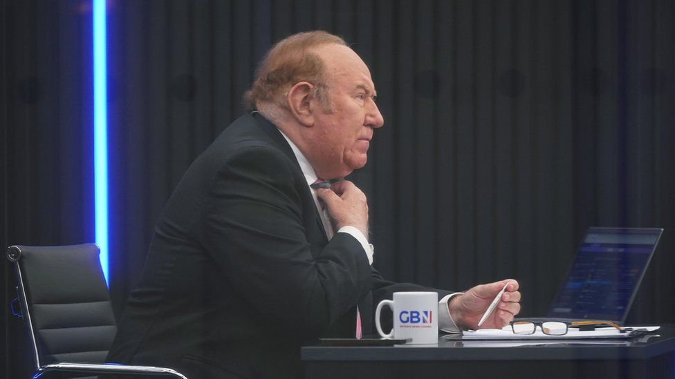 Andrew Neil, on the set of GB News