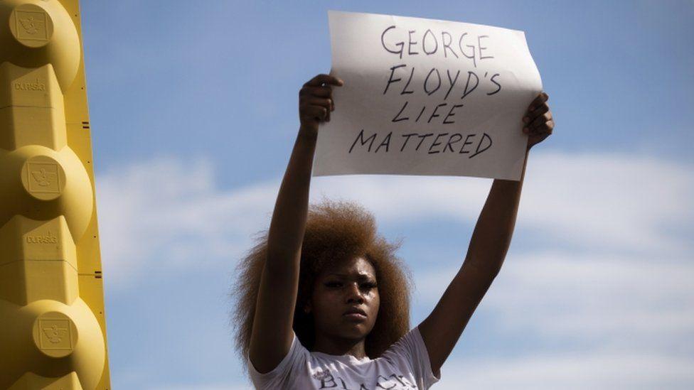 Protester in Minneapolis