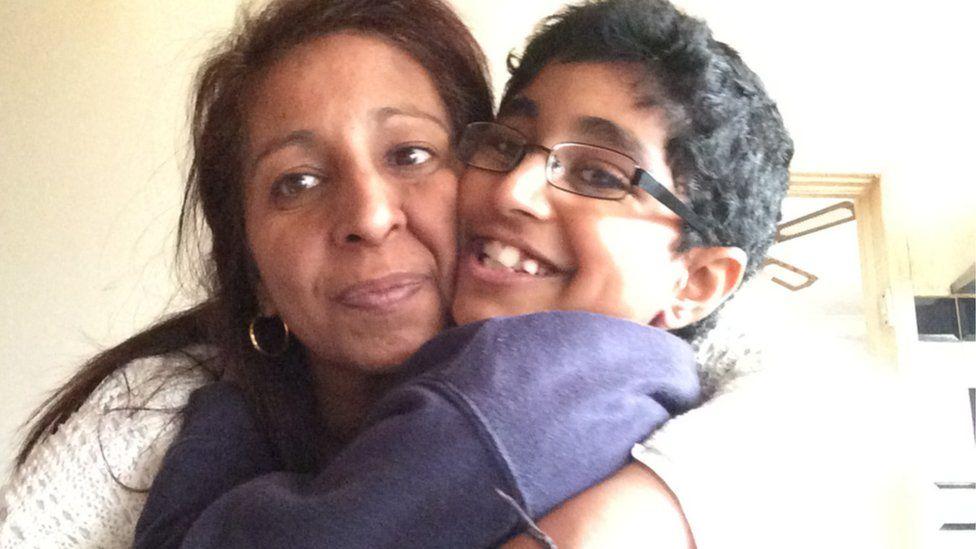 Rina Cheema with her son Karanbir