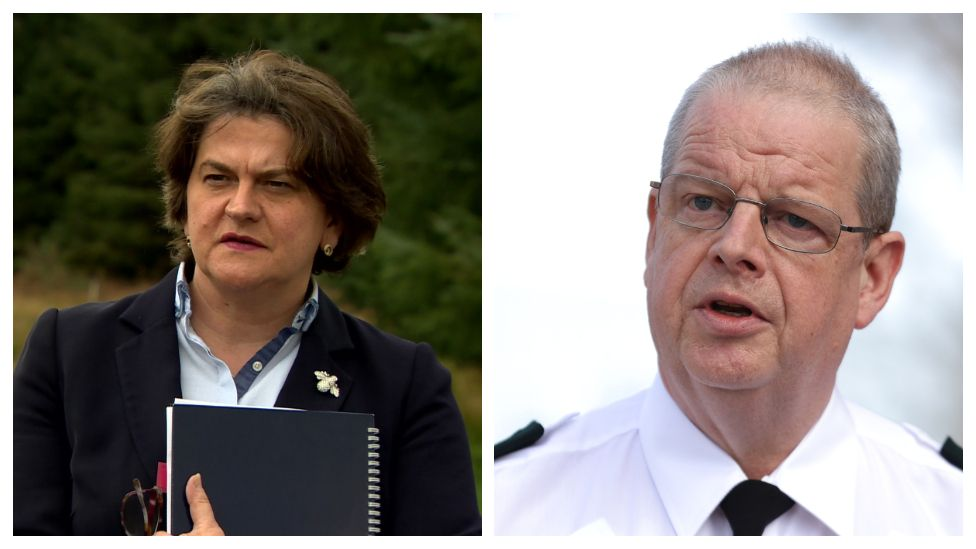 Arlene Foster and Simon Byrne