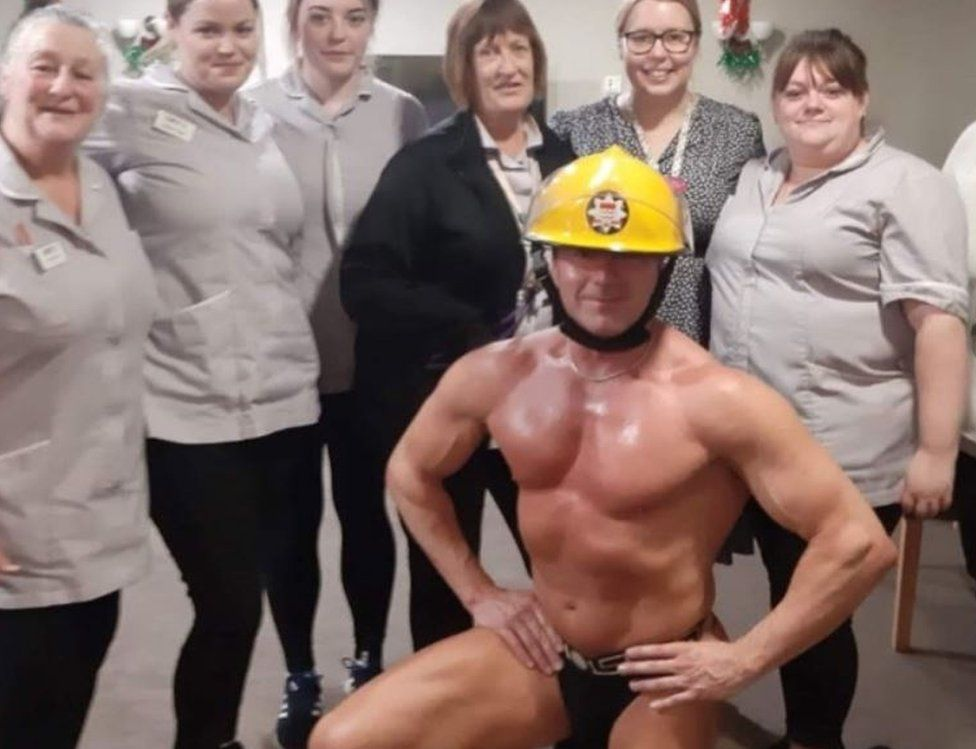 Stripper with care home staff