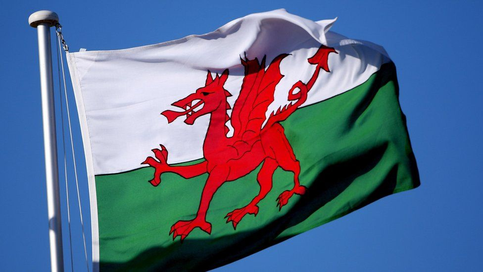 A close-up of a Welsh flag during the final round of the Omega European Masters at Crans-Sur-Sierre Golf Club on September 9, 2007 in Crans Montana, Switzerland.
