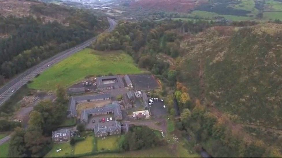 Aerial view of the site for the distillery