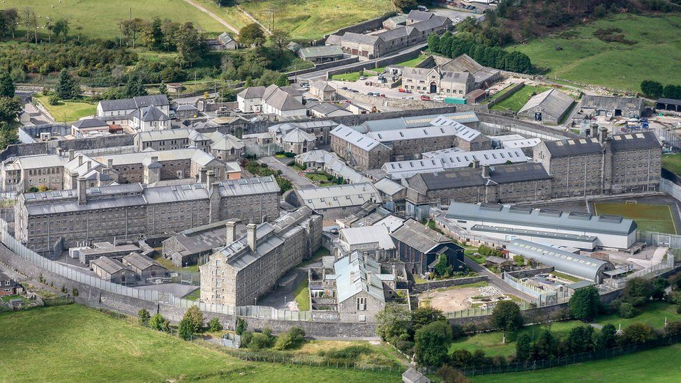 An aerial view of Dartmoor prison
