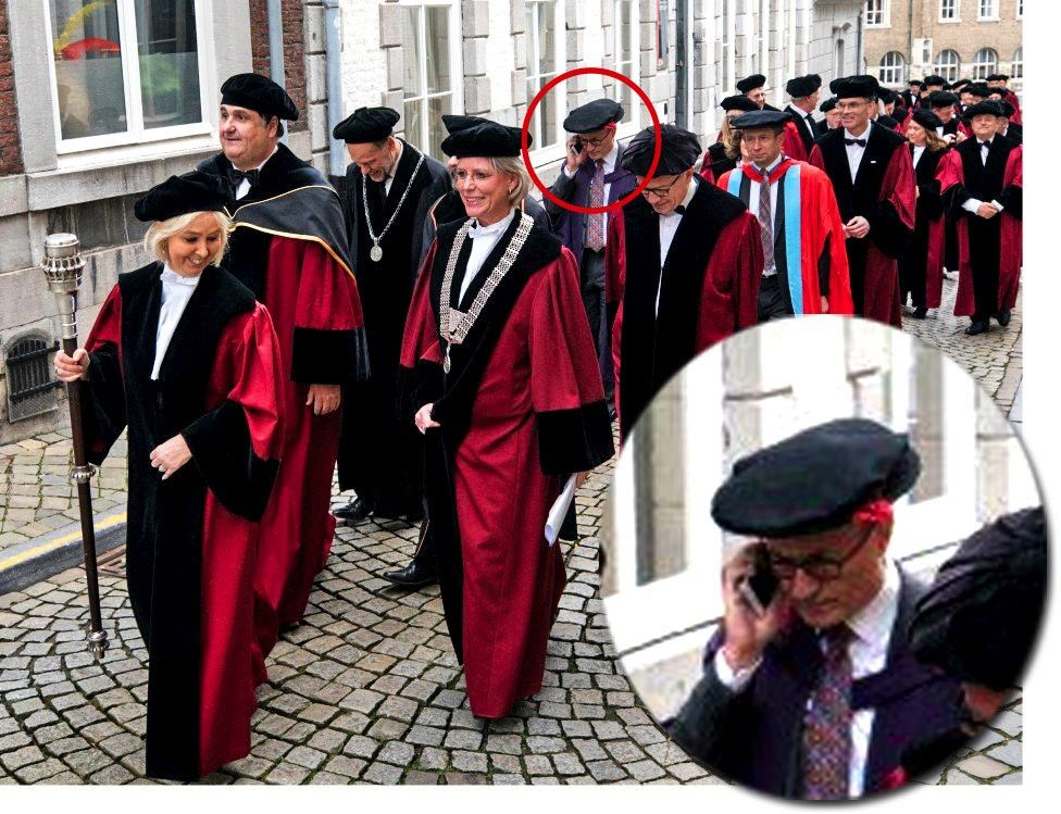 Charlie Jeffery takes part in parade in Maastricht