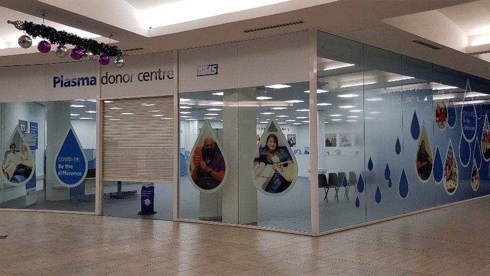 Plasma donation centre in Ashford