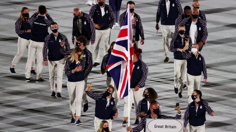 GB athletes at the Opening Ceremony