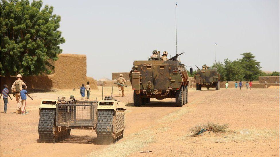 Milrem unmanned vehicle in Mali