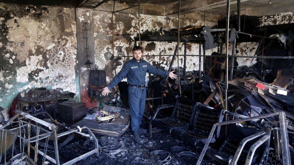 Scene of Kabul blast