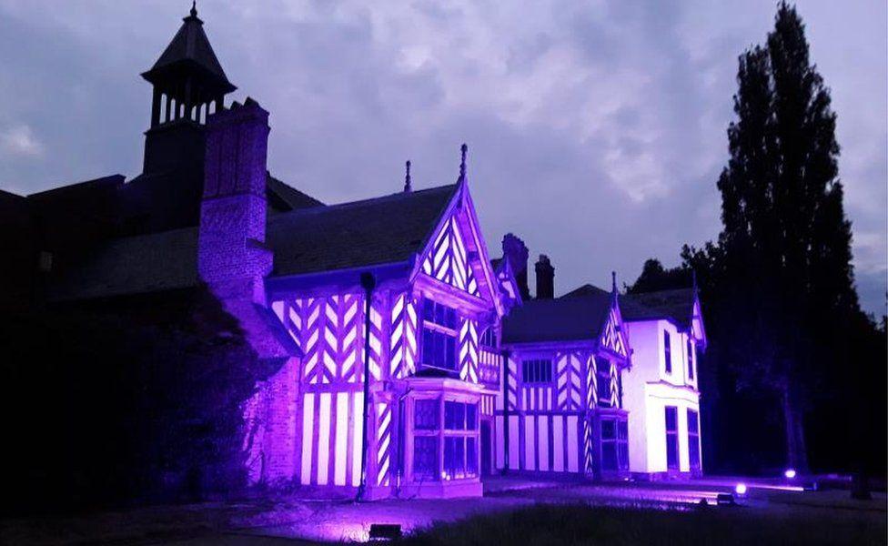 Wythenshawe Hall lit up