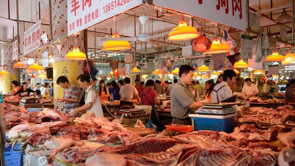 Covered market in Shenzhen