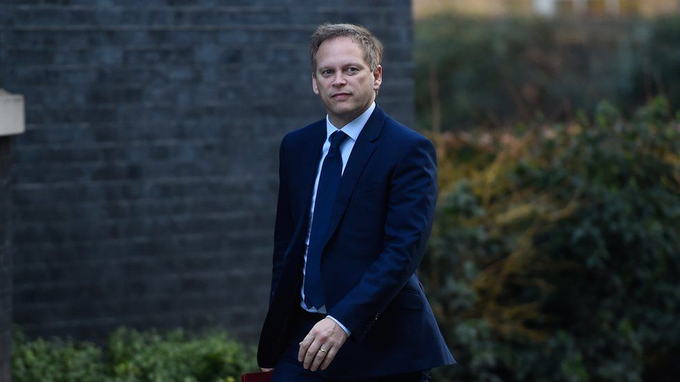 Grant Shapps, Secretary of State for Transport, arrives at Downing Street on January 21, 2020