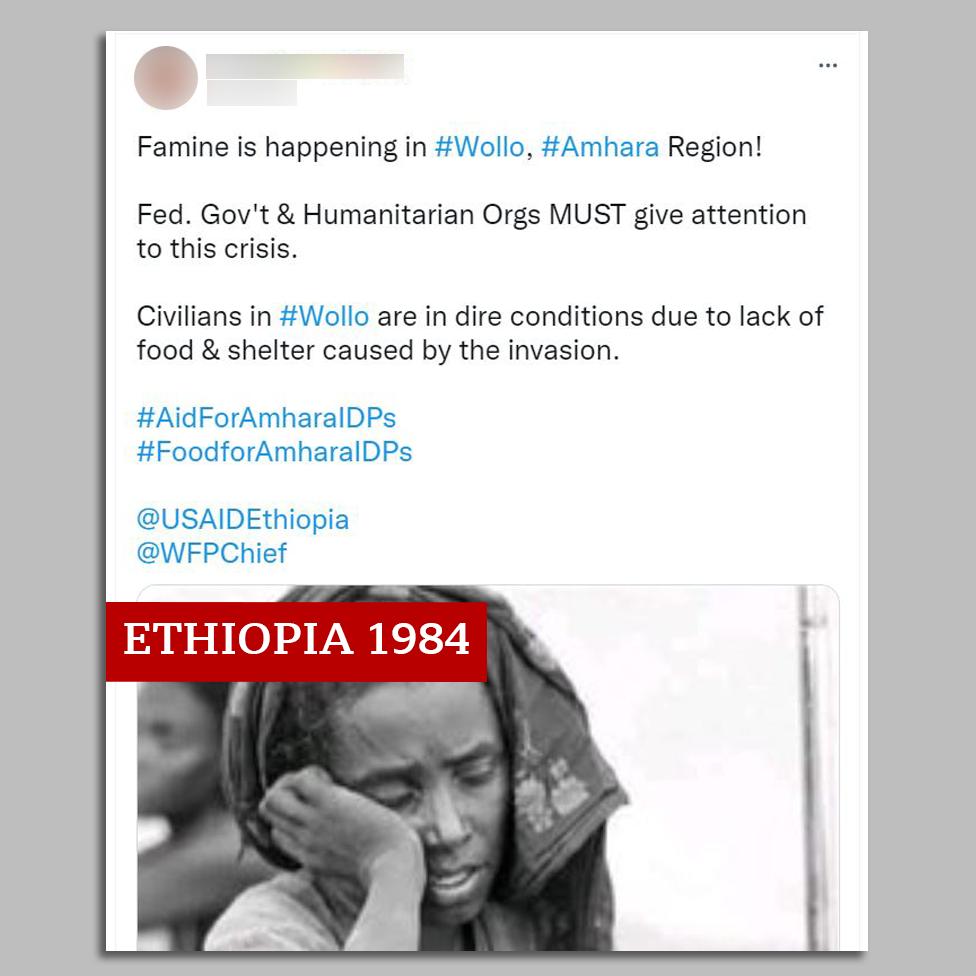 Säutsu ekraanipilt 1984. aasta näljahädast Etioopias