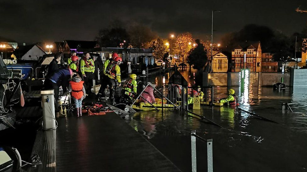 Northwich marina evacuated.