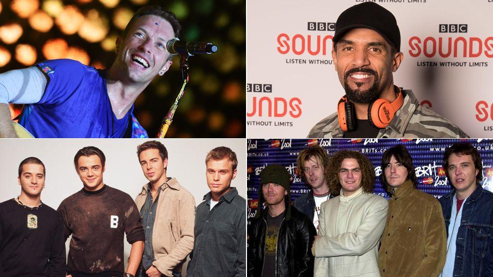 Coldplay, Craig David, A1 and Toploader