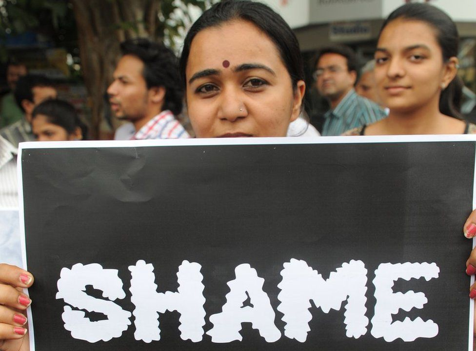 A protest against rape in India