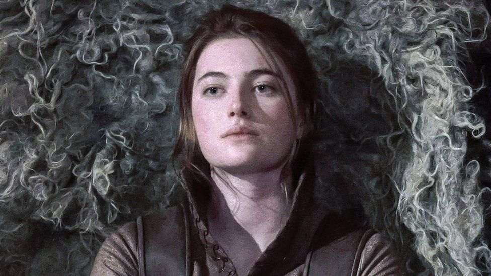 Millie Brady as Aethelflaed in The Last Kingdom