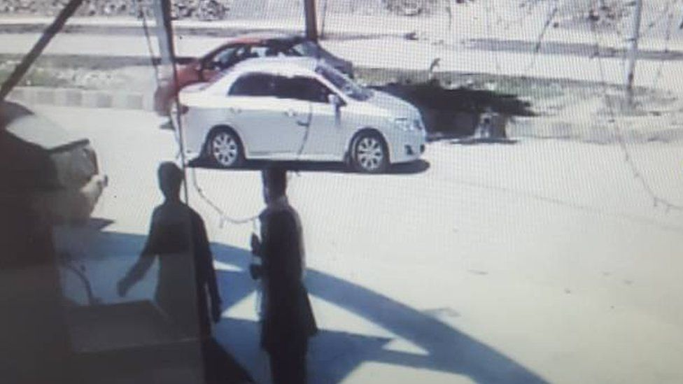 The car Meng Lisi and Li Xinheng were kidnapped in