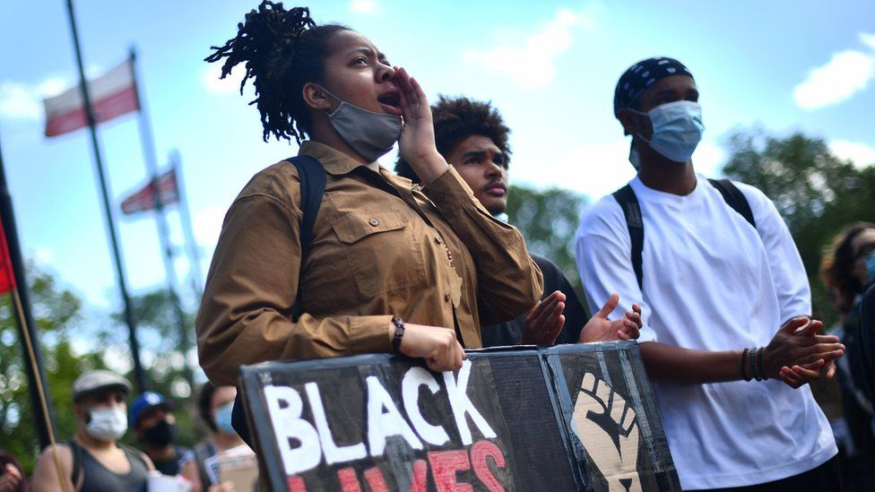 Anti-racism protesters