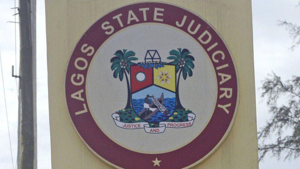 Lagos state judiciary logo. File picture