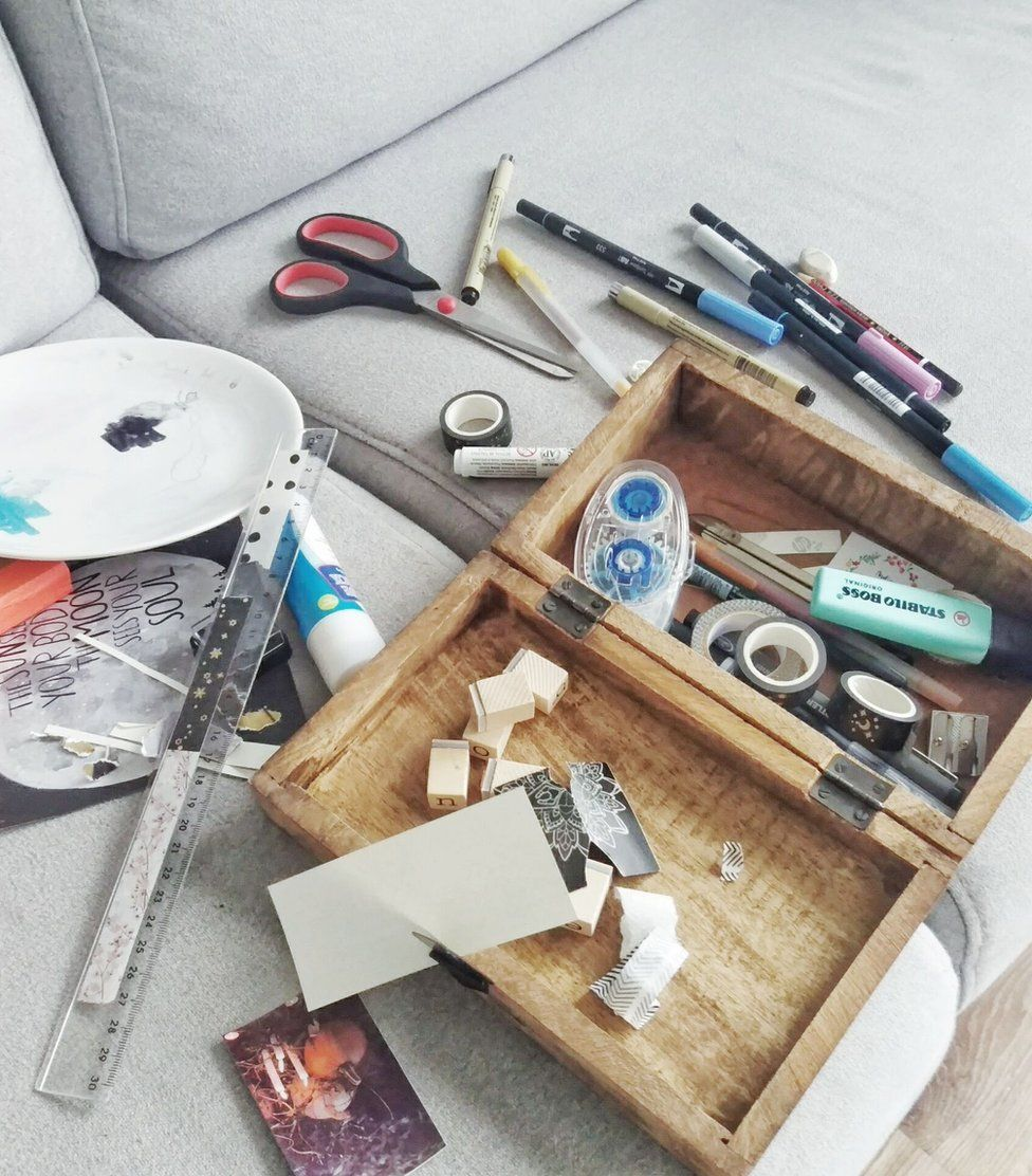 Stationery used to create a bullet journal. Suzan, Netherlands