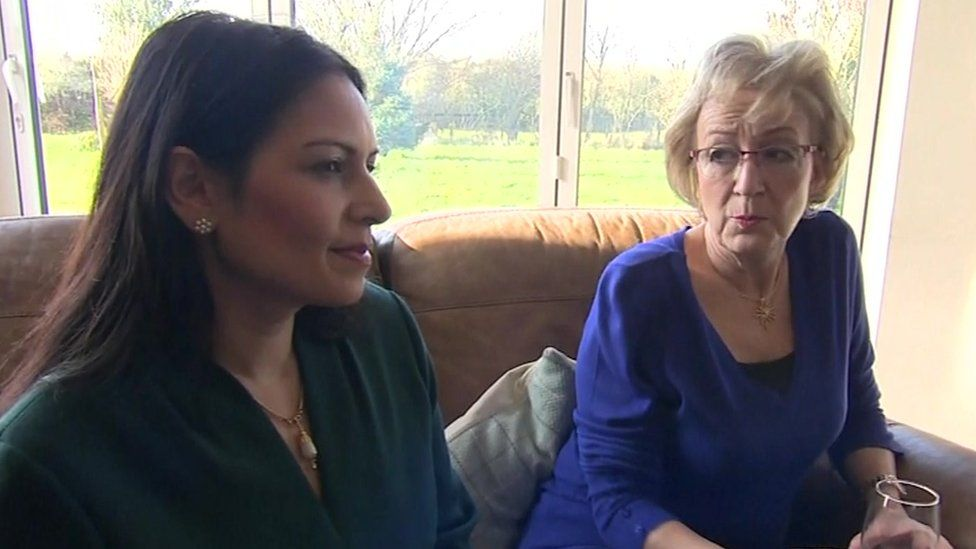 Priti Patel and Andrea Leadsom met the Dunn family