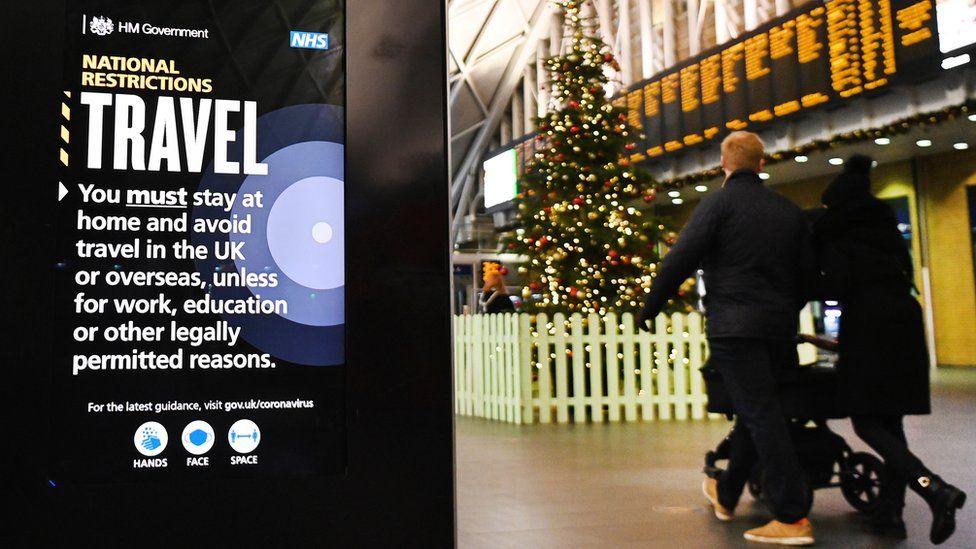 London King's Cross station, 20 December 2020