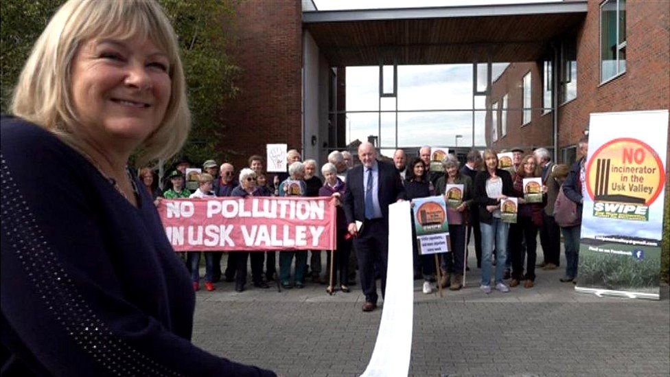 A petition against an Usk Valley incinerator