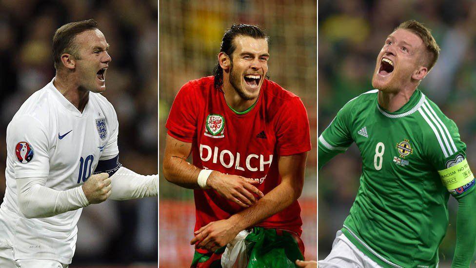 Wayne Rooney, Gareth Bale, Steven Davis