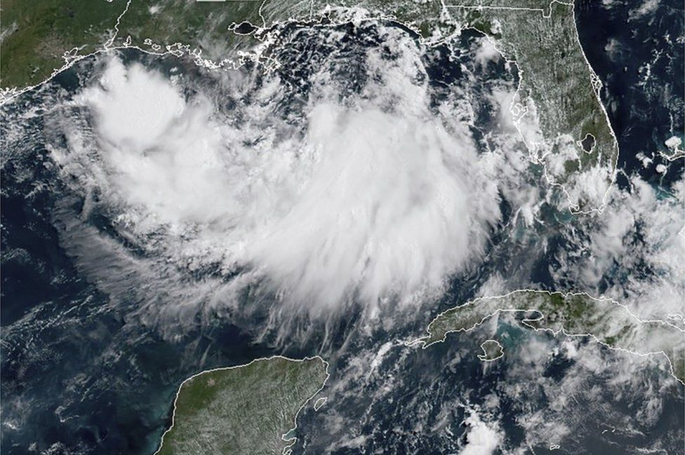 Satellite image of the Gulf of Mexico