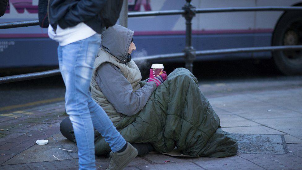 Manchester beggar