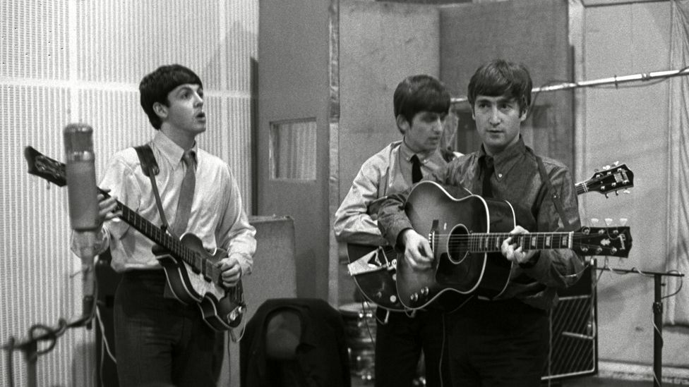 The Beatles record in Abbey Road