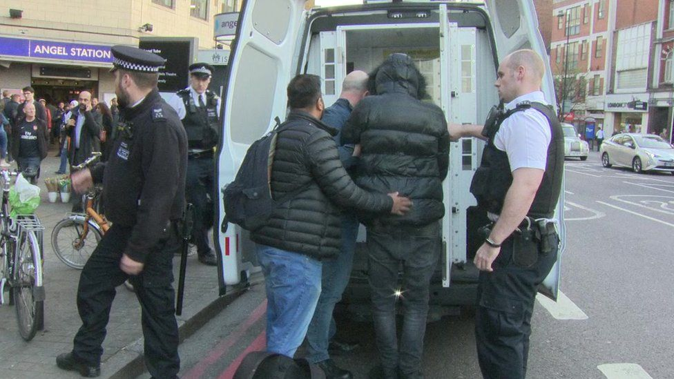 Police carrying out stop and search